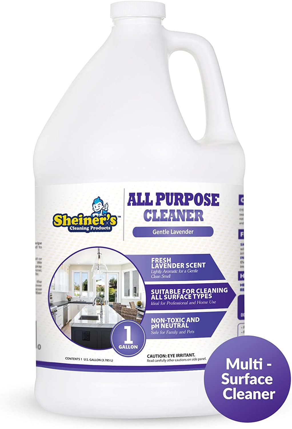 All Purpose Cleaner, Multi Surface Cleaner for Home, Kitchen Countertop,  Kitchen Floor, and Universal Stone Cleaning, Gentle Lavender Scent, 12  Gallon ...