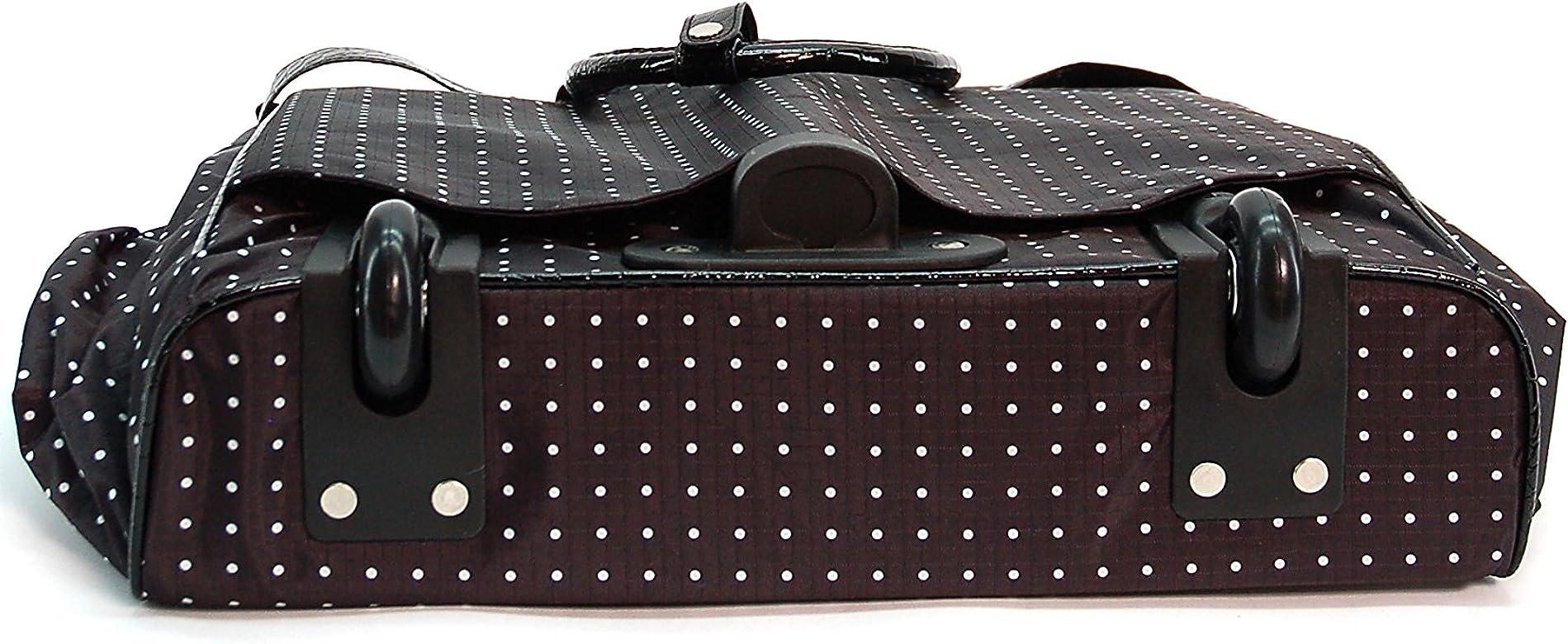 eb9d4fb77dcc Polka Dot Rolling Travel Tote Laptop Foldable Bag