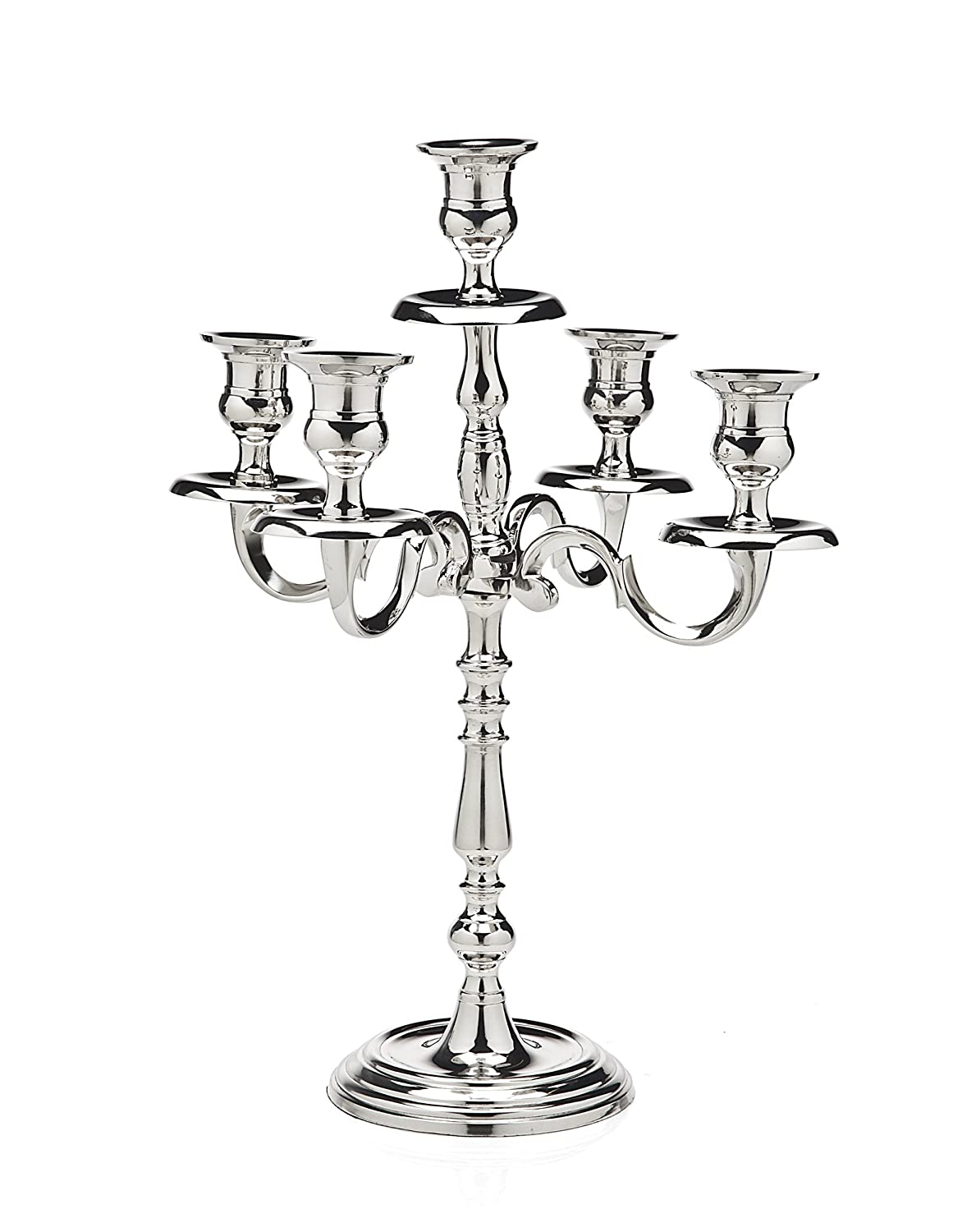 Tradition Silver Plated Candelabra 5 Light Godinger Silver Art AX-AY-ABHI-52995