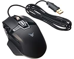 Amazon Basics PC Programmable Gaming Mouse   Adjustable 12,000 DPI, Weight Tuning