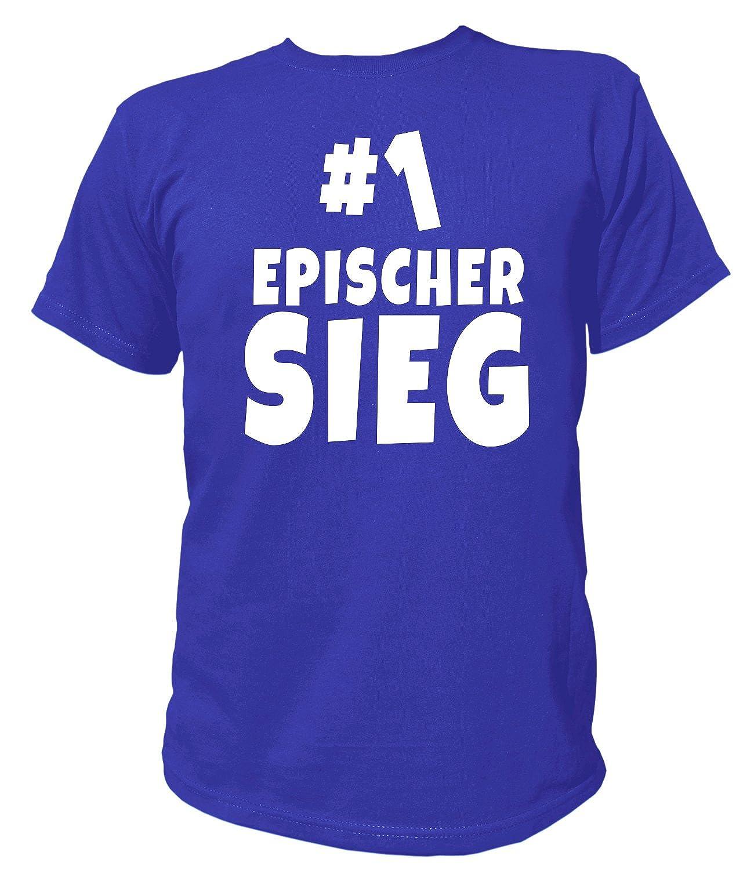 Artdiktat Herren T-Shirt - Epischer Sieg - Zocken Team - Funshirt Humor Fun Spaß Kult Funny Spruch