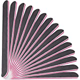 Professional Nail File 100 180 Grit Double Sided Black Washable Nail Files, Teuki Fingernail Files Emery Emory Boards…