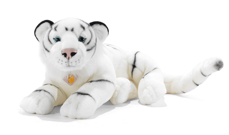 Plush&Company 05998 - Peluche (50 cm), diseño de Tigres de Las Nieves, Color Blanco