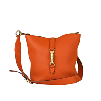 d0c0f302340 Image Unavailable. Image not available for. Color  Gucci Jackie Orange  Leather Bucket Tote ...