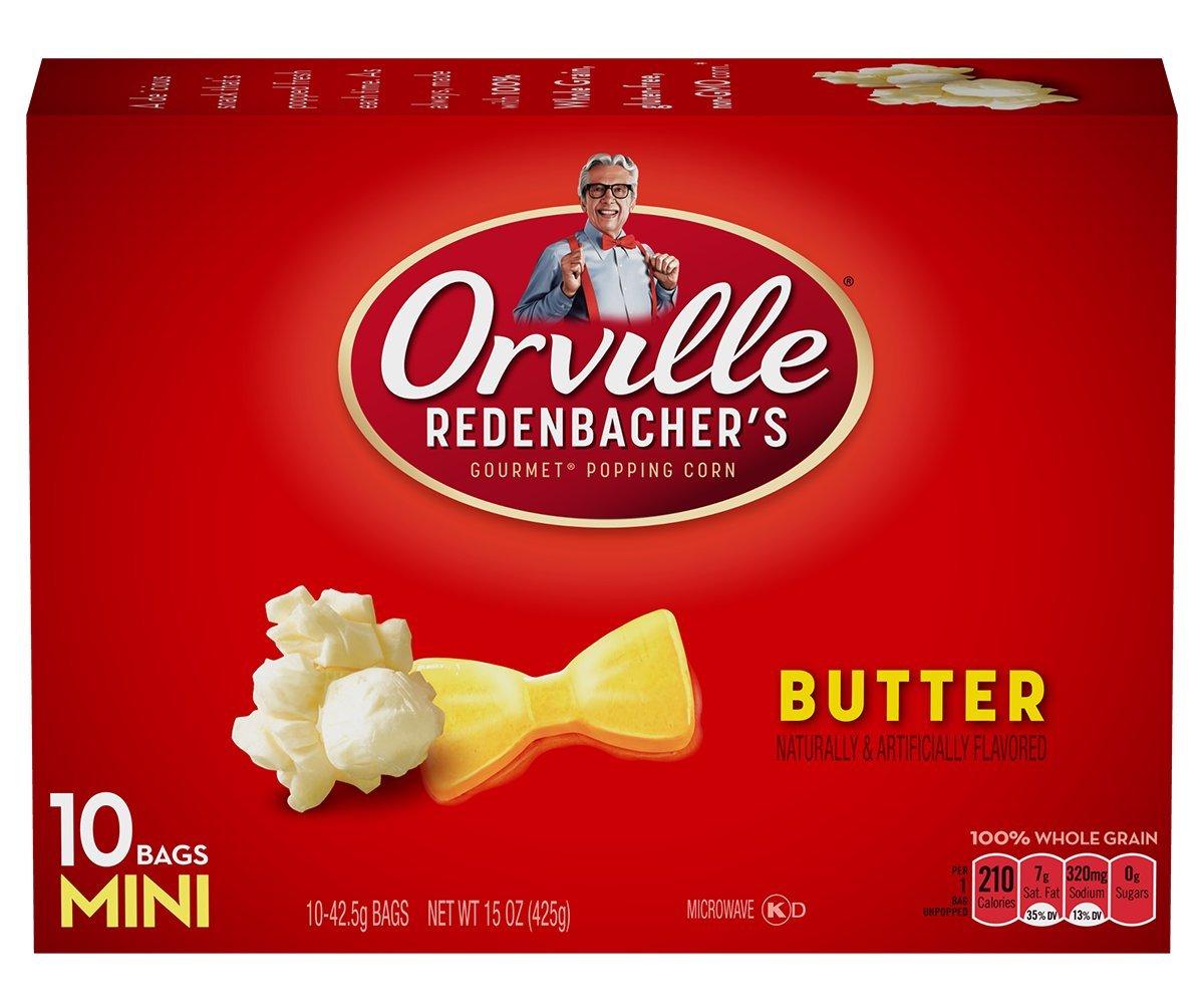 Orville Redenbacher Gourmet Popping Corn 10  Mini Bags Butter Net Wt 15  Oz (Pack of 3)