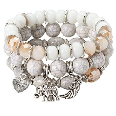 Amazon.com: Worldly Finds Pulsera de elefante de buena ...