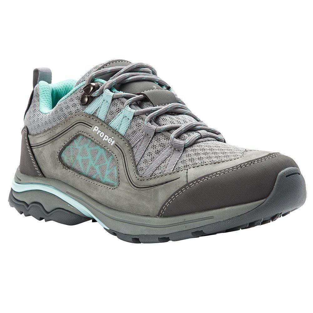 Propet Women's Piccolo Hiking Boot, Grey/Mint, 10 2E 2E US