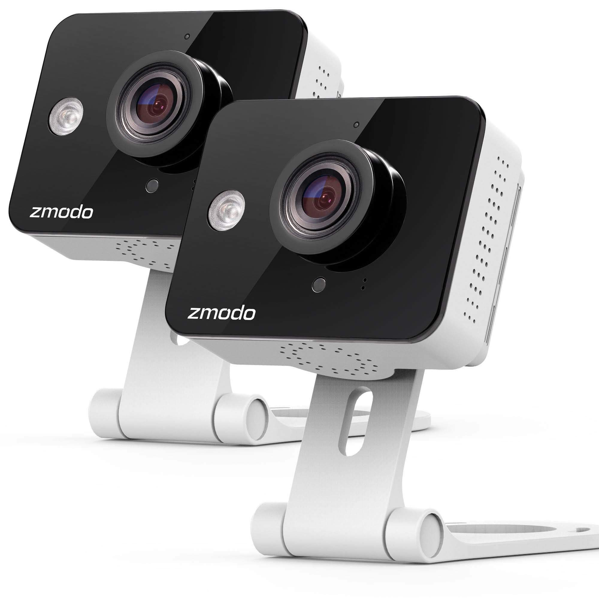 Zmodo 720P HD WiFi Wireless Smart Security Camera Two-Way Audio Work with Google Assistant (Non-Retail Packaging) by Zmodo