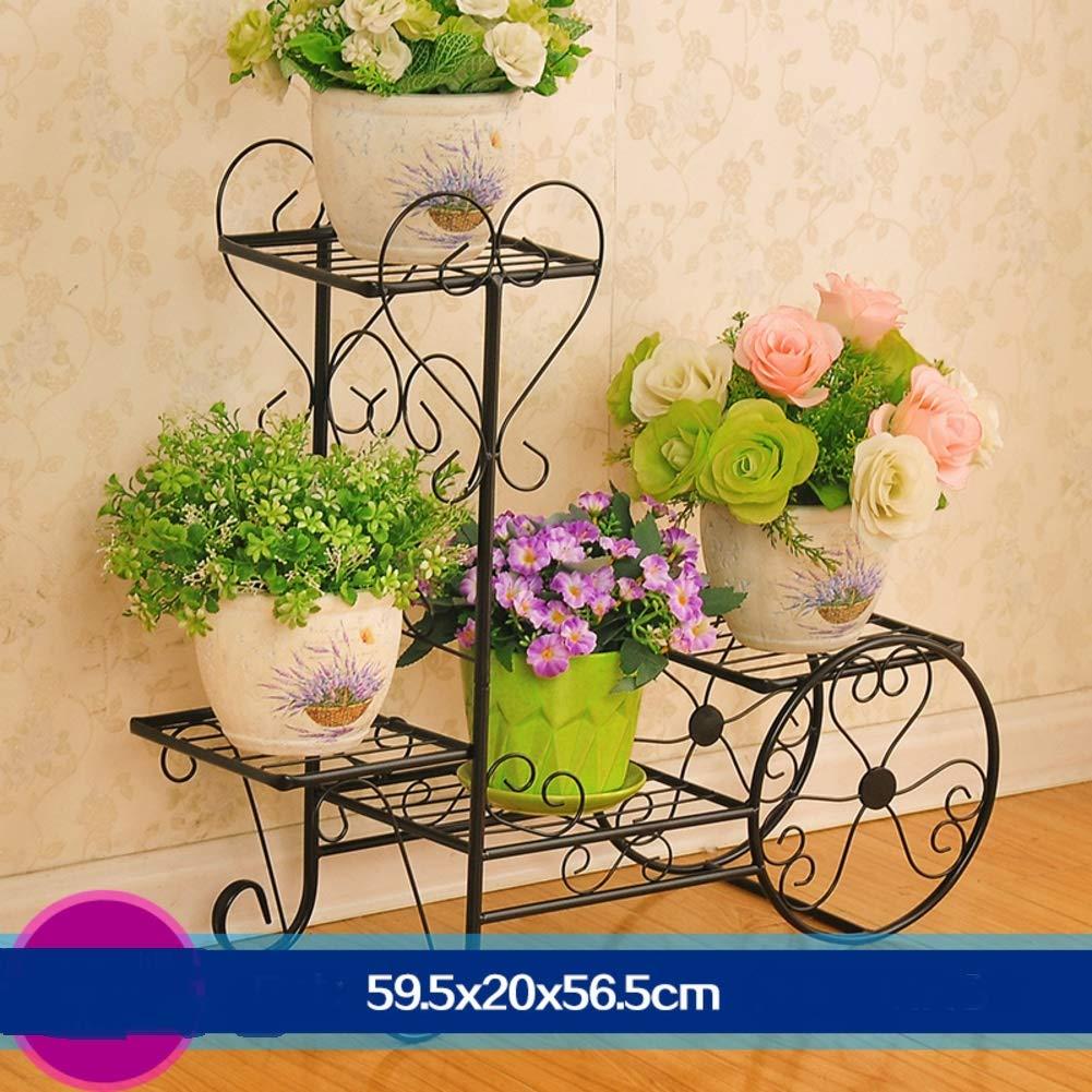 solo per te JYXJJKK Basamento di Fiore Fiore Fiore in Ferro battuto di Pavimento Multistrato,Mensola di pianta di Soggiorno-L  molte sorprese