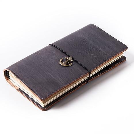 Cuaderno de piel de Vintage Notebook planificador ...