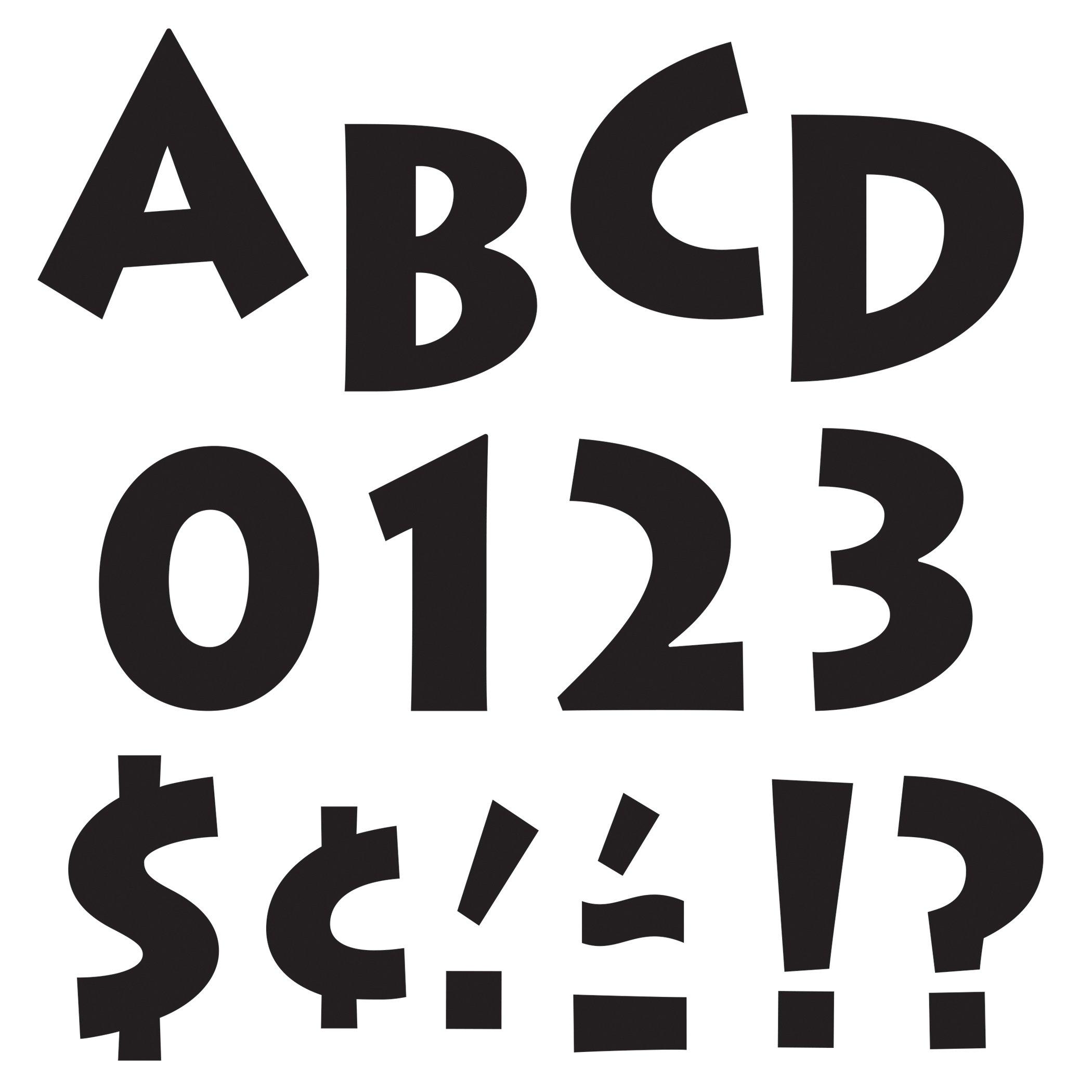 Trend Enterprises T-79201BN Black 4'' Venture Uppercase Ready Letters, 6 Packs by TREND Enterprises (Image #1)