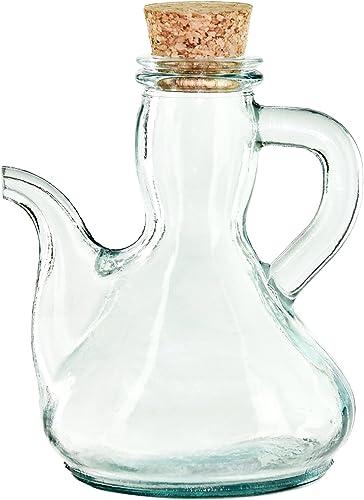 Couronne Company Spanish Glass Cruet with Cork, G5378, Clear, 1 Piece
