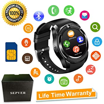 Smartwatch SEPVER Reloj Inteligente Smart Watch con Cámara Soporte ...