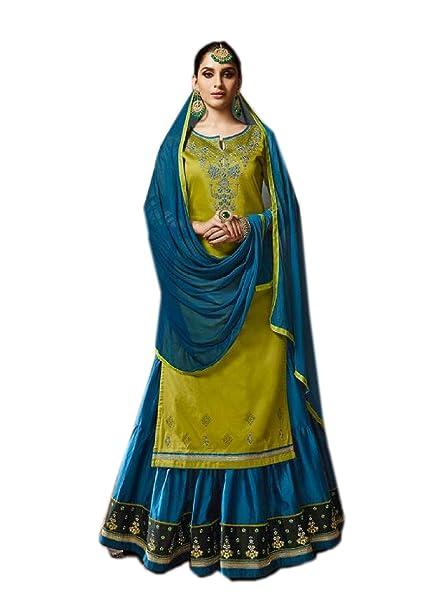 565a708ffe994d BKRKJ Women's Jam Silk Cotton Fabric Unstitched Dress Material | Bridal  Wedding Wear Ghagra Lehenga Choli