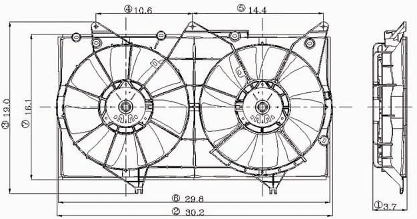 01 camry 2 cooling fans ac wiring diagram amazon com cpp dual cooling fan for 2002 2006 toyota camry  cooling fan for 2002 2006 toyota camry