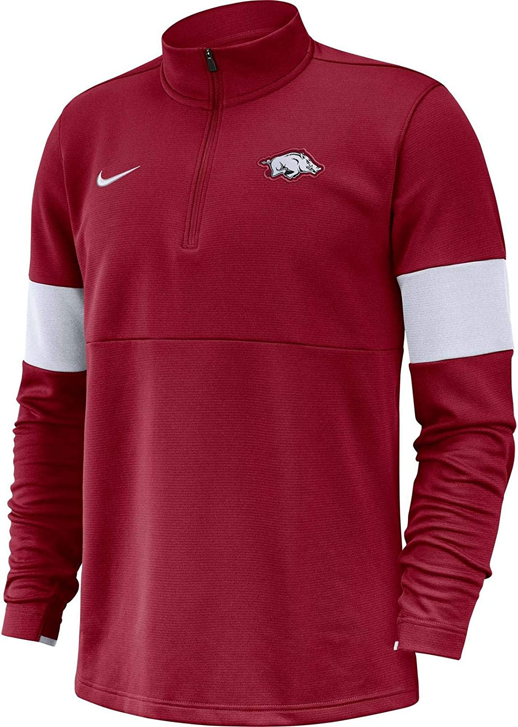 Nike Mens Arkansas Razorbacks Therma Half-Zip Jacket