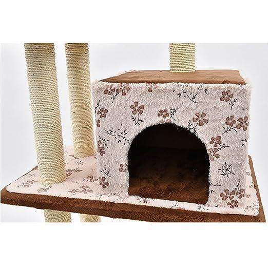 YGJT Árbol Rascador de actvidades Escalador para Gato Color marrón y Rosa: Amazon.es: Productos para mascotas