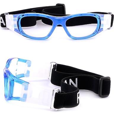 5b455c17733 Kids  Rx Sports Protection Goggles Prescription Safety Glasses Wrap Around  Blue