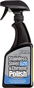 Flitz SS 01306 Clear Stainless Steel Polish, 16 oz. Spray Bottle