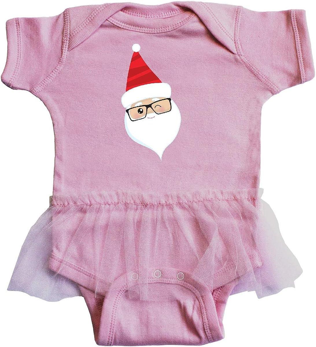 Hipster Santa inktastic Santa Claus Red Infant Tutu Bodysuit Winking Santa