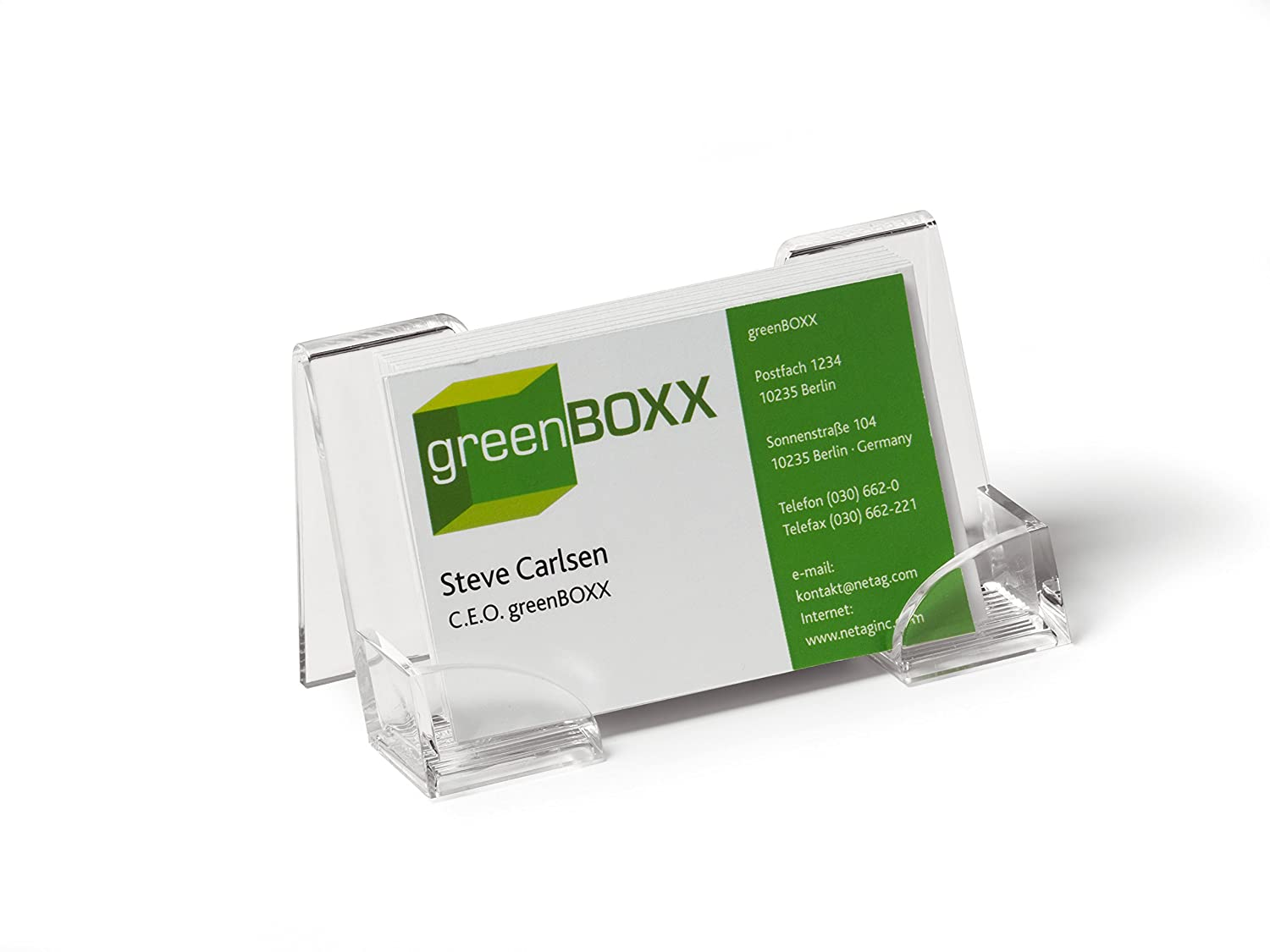 Durable business card dispenser amazon office products reheart Gallery