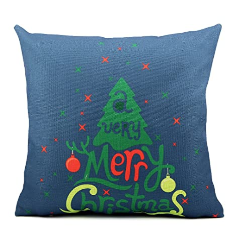 Amazon Homar Throw Pillow Covers Merry Christmas Print