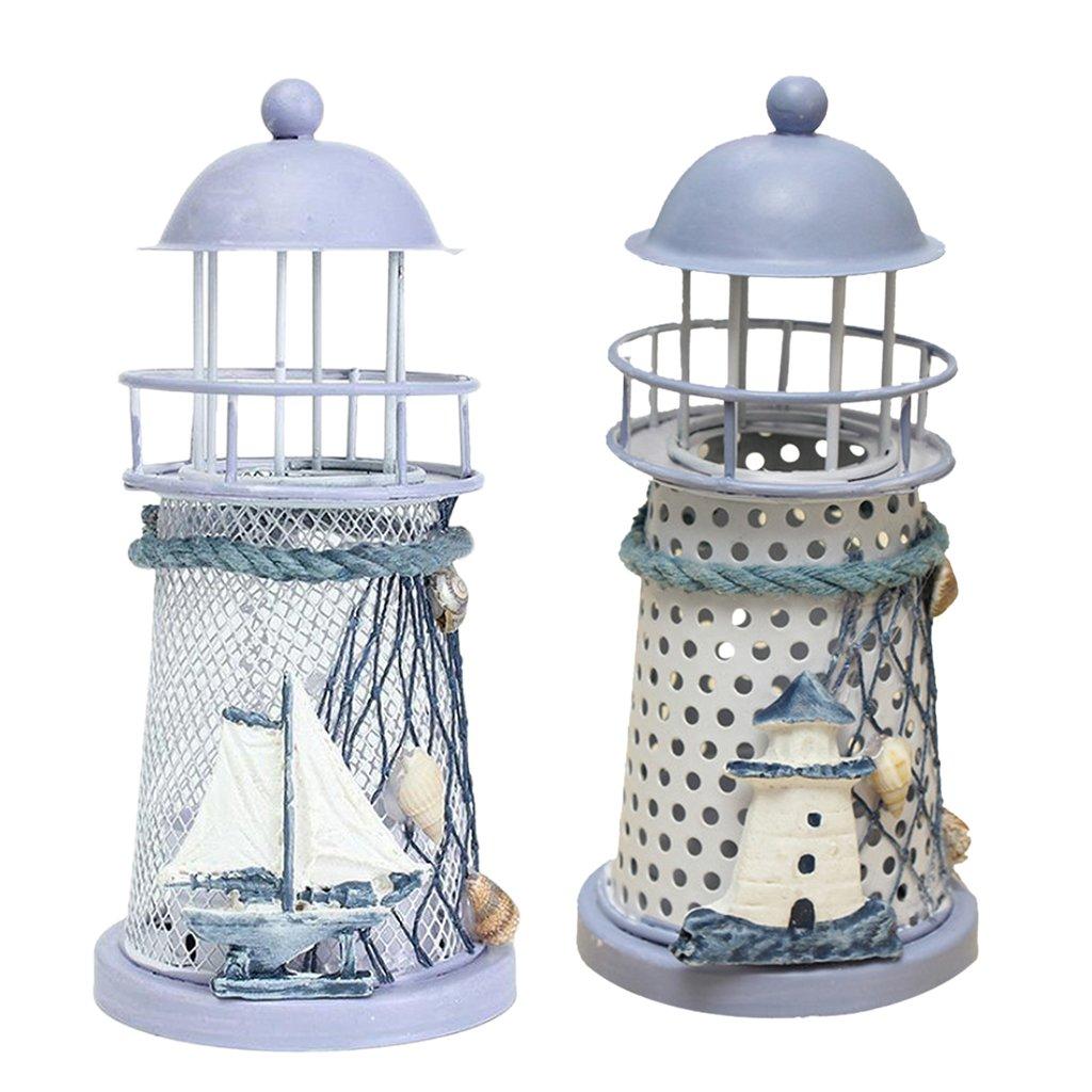 MagiDeal Portacandele Candelabro Lanterna Nautica Faro Barca A Vela Artigianato Decorativo Regalo Natale