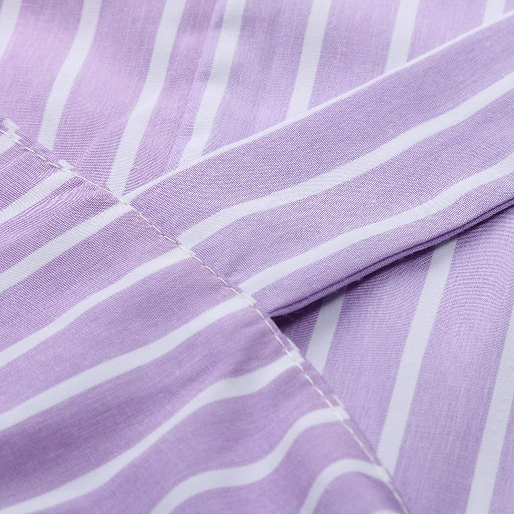 Plus Size Womens Casual Striped Wear to Work Business Cocktail Pencil Dress Bravetoshop