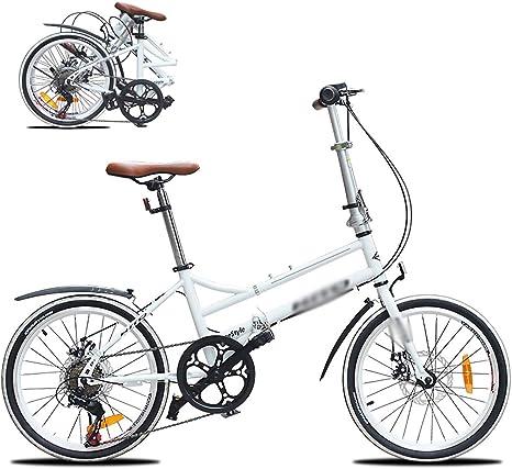 Marco De Acero De Alto Carbono Micro Bike,Bikes Plegado Urbana, Bicicleta Plegable, Sillin Confort,20 Pulgadas 6 velocidades Plegable Bicicleta Folding Bike Bicicleta: Amazon.es: Deportes y aire libre