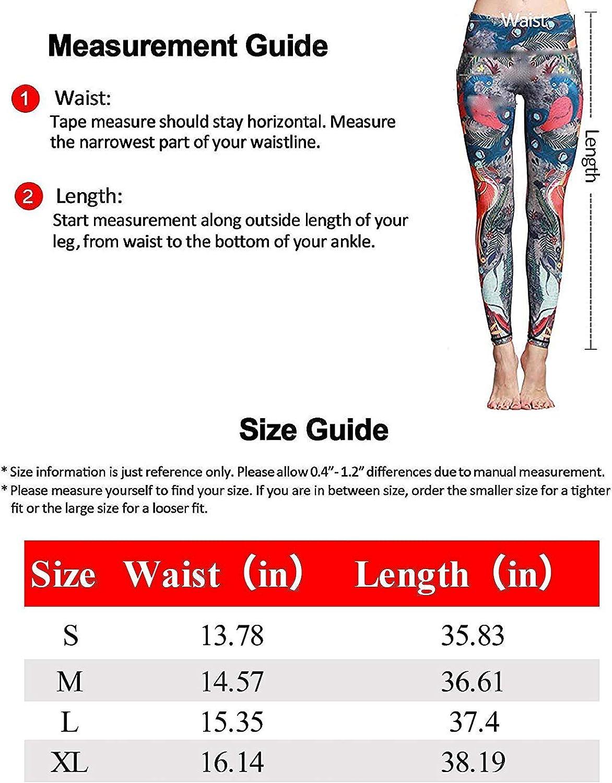 Printed Leggings Fluorescent Blue Butterfly Leggings Workout Leggings Women Girls