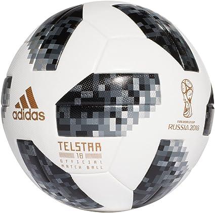 adidas World Cup 2018 OAP balón de fútbol Pro Blanco/Negro: Amazon ...