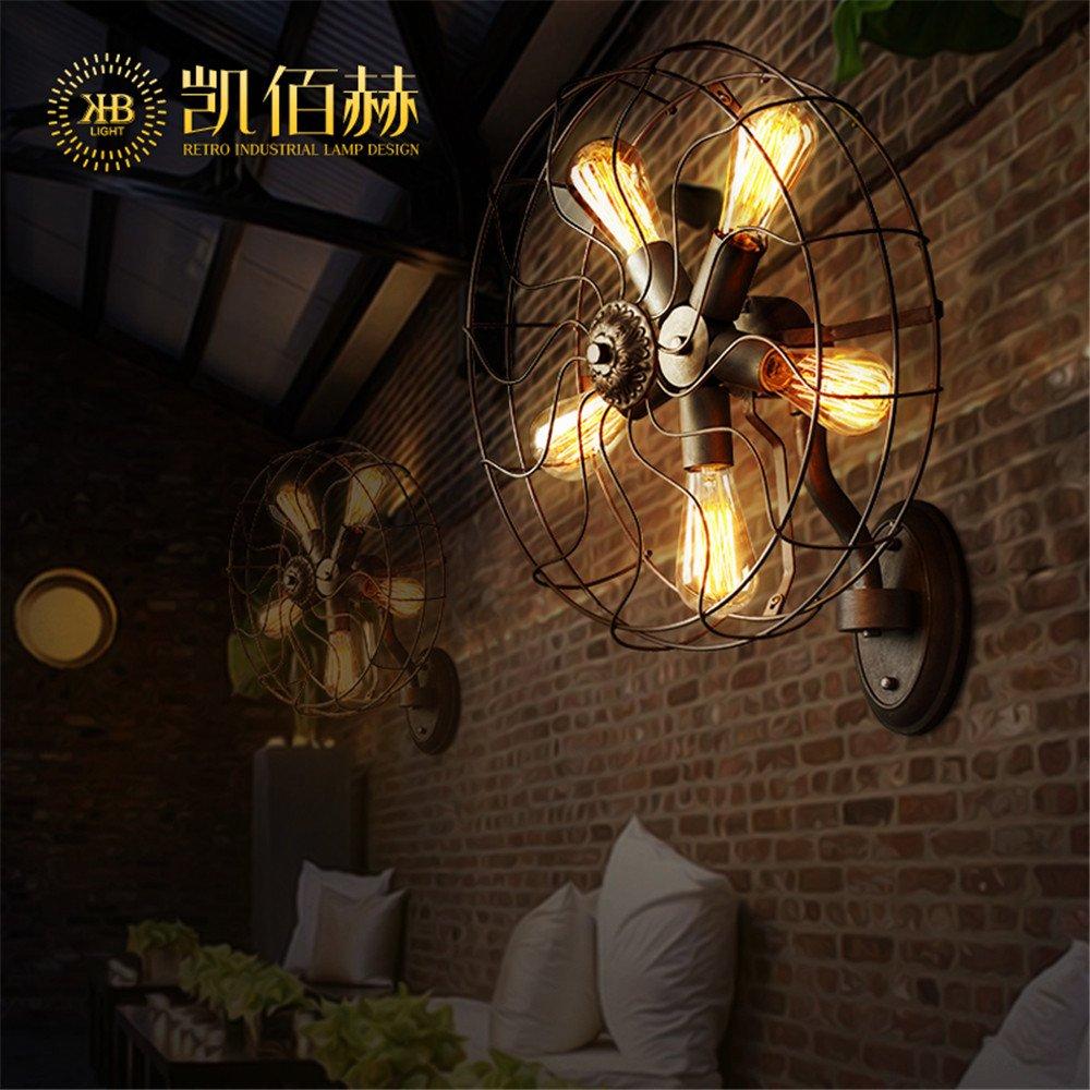 Ameublement et décoration Restaurant sépia chambre loft salon American village personnalité minimaliste des industries de la création,ventilateur 45 45cm applique murale