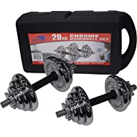 Skyland Unisex 20kgs. Adult Chrome Dumbbell Set Em-9227-20 - Chrome, L 43 X W 25 X 16 cm