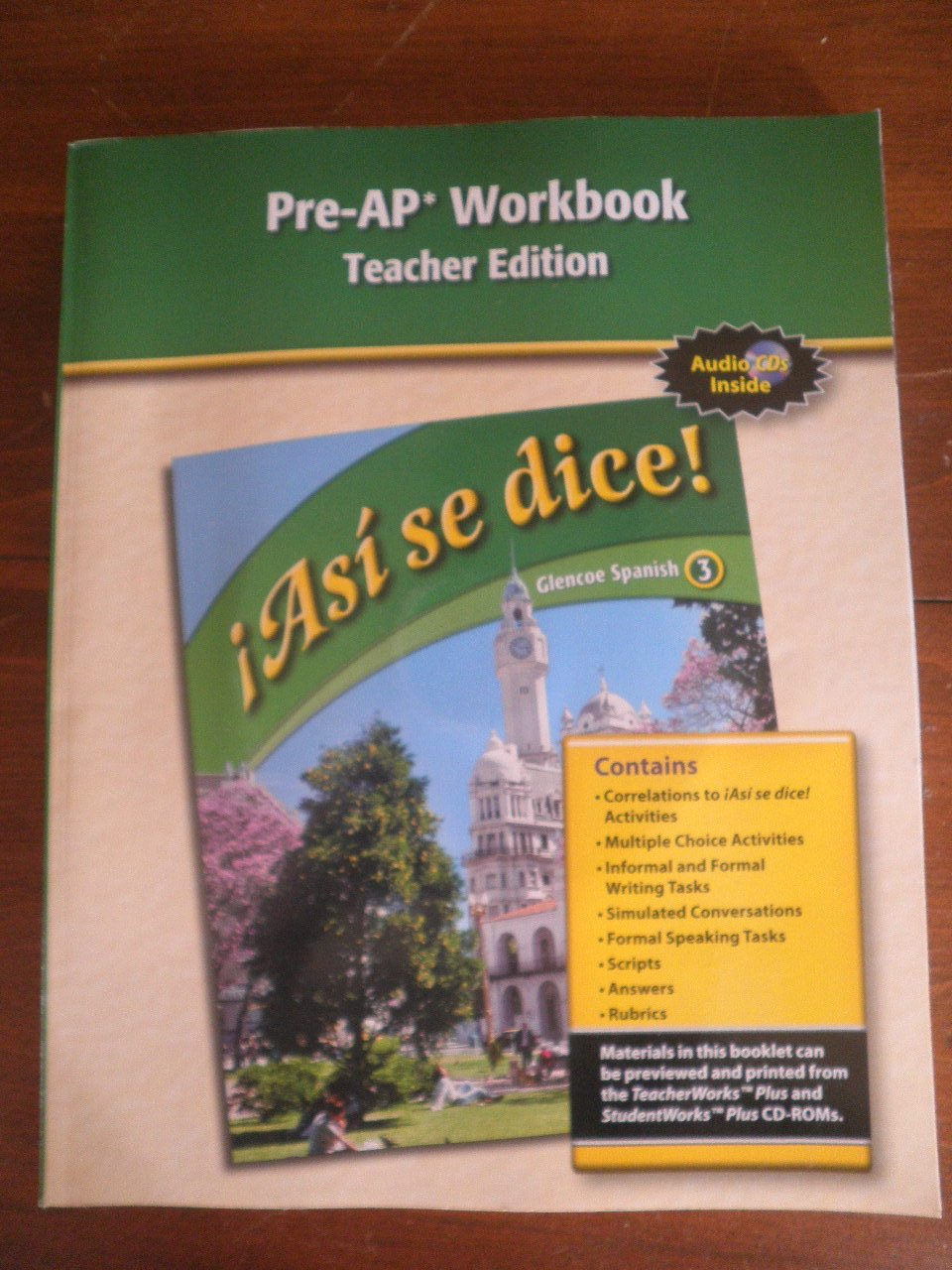 Asi se dice! Pre-AP Workbook, Teacher's Edition (Spanish 3 ...