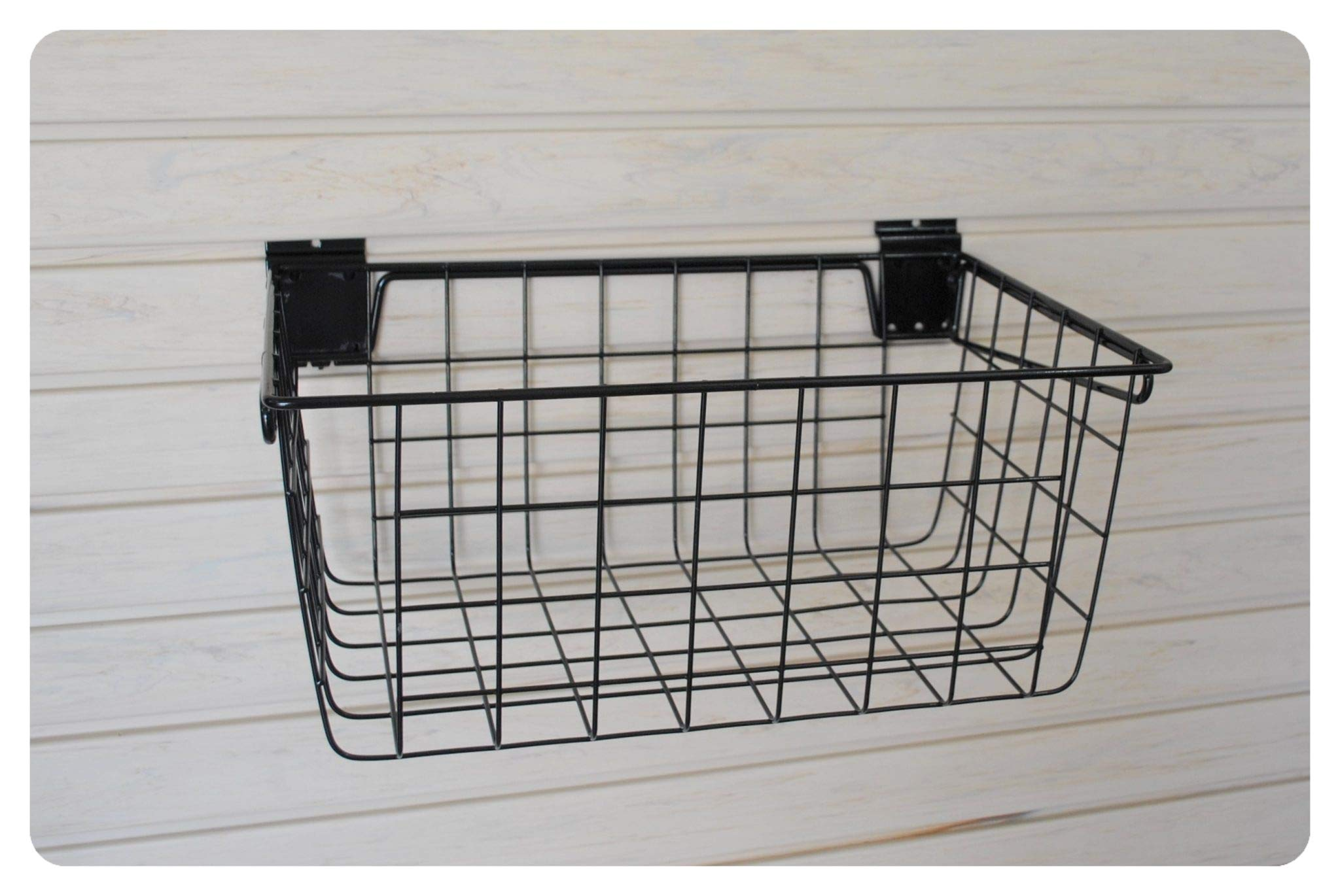 GaragePro 12'' x 18'' Large Ventilated Steel Basket for Slatwall Panels by The Garage Project