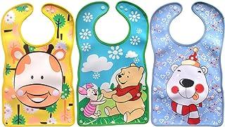 Baby Waterproof Stereo Soft Bib Sets 3pcs/6 Months-3 Years