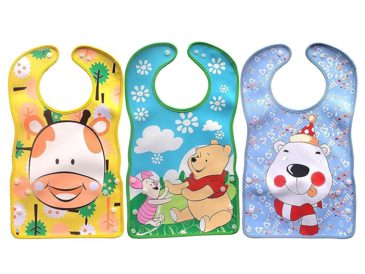 Baby Waterproof Stereo Soft Bib Sets 3pcs/6 Months-3 Years Smart Kids SK-061