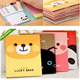 Kawaii Style Post-It Mémo, Drapeaux de Signet et Bloc-Notes Série (Paquet de 4) de Home Care Wholesale® FR