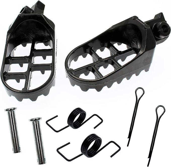 Yingshop Black Foot Pegs Rest Footpegs Replacement for Yamaha PW50 PW80 PW 50 80 BW80 1981-2015 DT50 RT100 RT180 T225S TT225T TTR110 TTR50E TTR90 TW200 WR200 WR250 WR500 XT225 XT250 XT350 XT600 YZ125