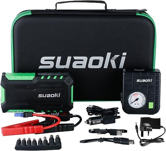 SUAOKI G7 Plus - Jump Starter de 18000mAh, 600A arrancador de ...