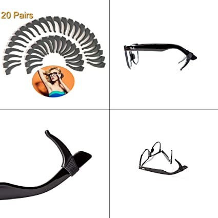 d8228c09fe3 20 PAIRS Keepons Superstretch Black Prevent Eyeglass Slipping Anti Slip Anti  Slide Eyewear Sunglasses Spectacles Glasses