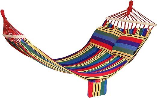 Hamaca con Barra, Hamaca para jardín, Tumbona de jardín en Distintos Colores, Ideal para Varias Personas, Longitud 210 x 150 cm (Multicolor): Amazon.es: Jardín
