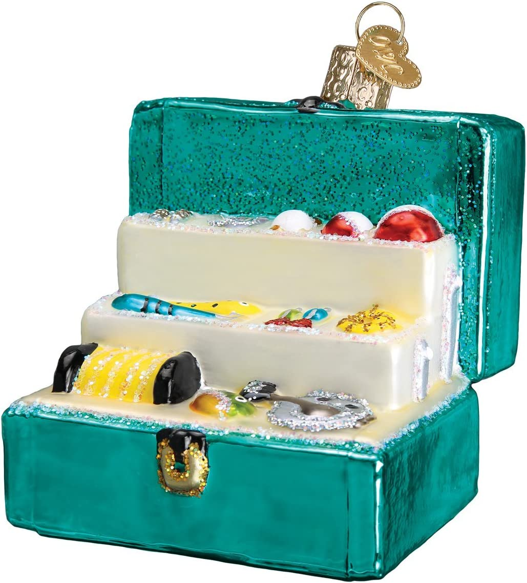Outside Collection Old World Christmas Glass Blown Ornament with S-Hook and Gift Box Barbecue