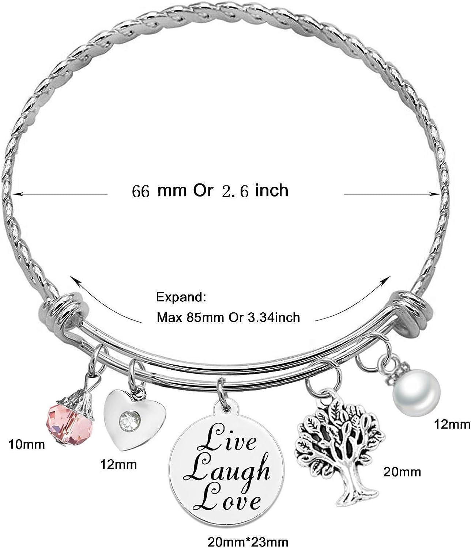 Twist Wire Expandable Bangle Bracelet 100 Options Expandable Wire Bangle Bracelet SOOFUN Message Charm