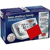 boso medicus family / Partner-Blutdruckmessgerät mit 2 Speicher-Plätzen, großem Display und Arrhythmie-Erkennung / Inkl. Universal-Manschette (22–42cm)