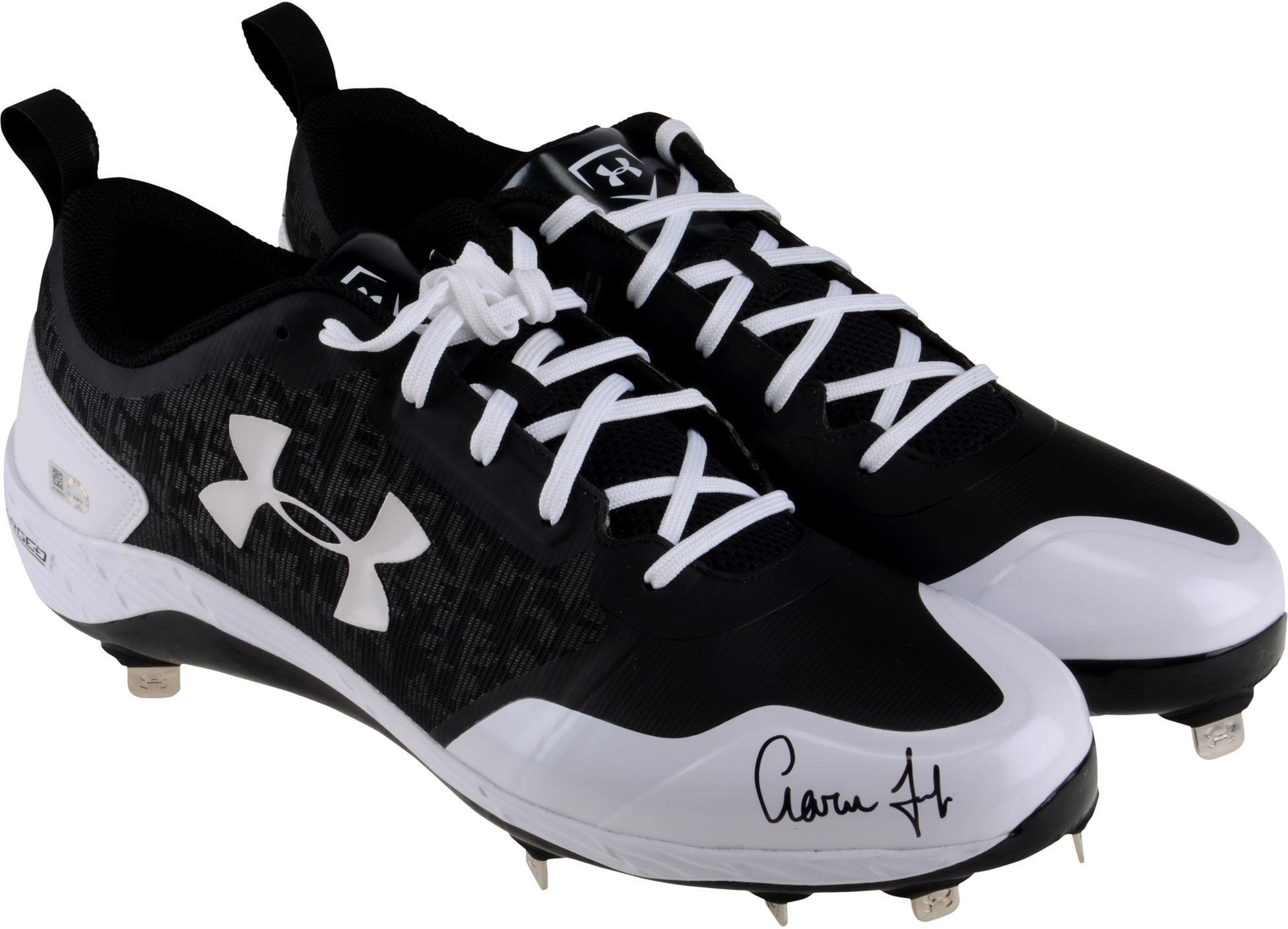 Aaron Judge New York Yankees Autographed Under Armour Replica Cleat Fanatics Authentic Certified Autographed MLB Cleats