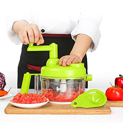 Genial Tenta Kitchen 3.2 Cup/800ml Hand Crank Food Processor/Manual Food Chopper/