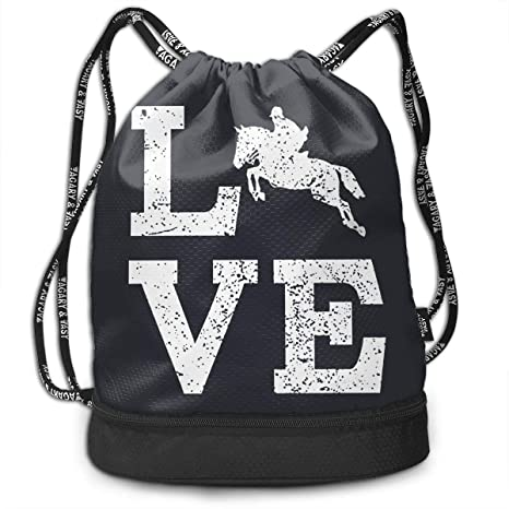 0ff99237d9de Amazon.com  Brady Johnson Love Horse Waterproof Gym Sackpack ...