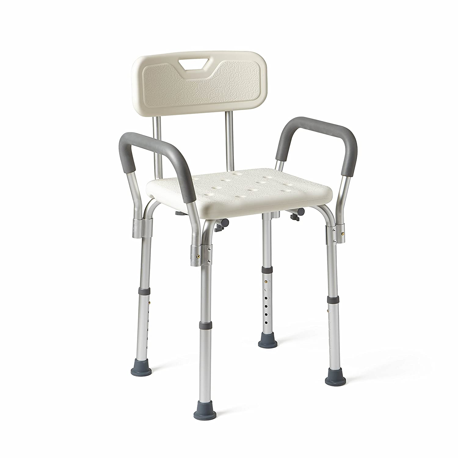 Medline Shower Chair Bath Seat with Padded Armrests and Back, Great for Bathtubs, Supports up to 350 lbs 71ByP0KSKoL
