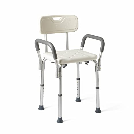 Amazon.com: Medline MDS89745RA Shower Chair with Padded Armrests ...